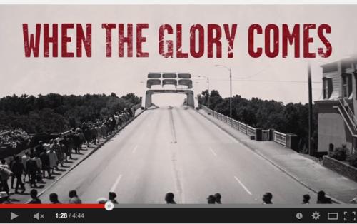 Screen shot from Selma Movie Glory lyrics video - http://www.youtube.com/watch?v=HEFRPLM0nEA