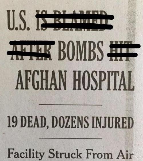 U.S. bombing headline