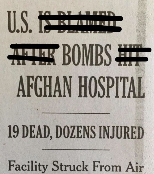 U.S. bombing headline