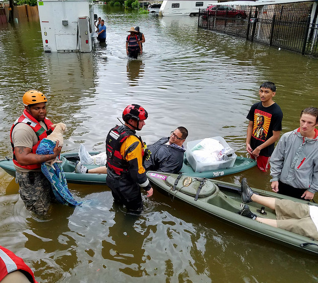 Helping after Hurricane Harvey