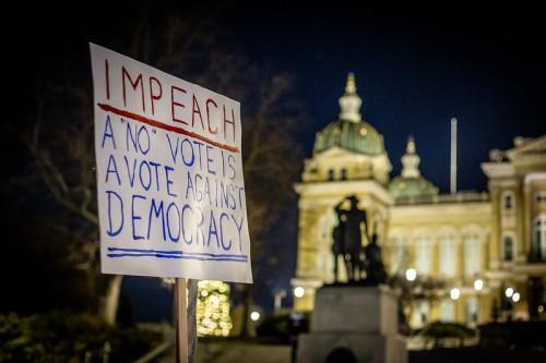 Impeachment rally.