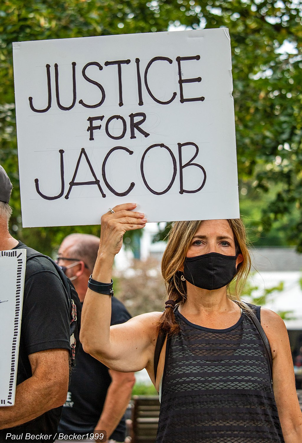 Justice for Jacob protest sign